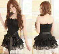 Beautiful Lace Princess Style Polyester Maid Uniform Costume