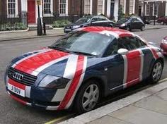 audi tt british flag