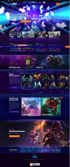 Heroes Of The Storm Website - Blizzard