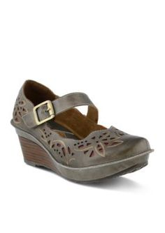 LrsquoArtiste by Spring Step Gray Amrita Mary Jane Wedge
