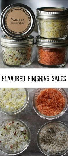 Sriracha and his buddies are here, and they're waking up tastebuds around town. Loved by food enthusiasts all around the world, these finishing salts add a pop of flavor to everything they touch. In this post I'm sharing four flavors that can take dishes Homemade Food Gifts, Homemade Spices, Homemade Seasonings, Homemade Seasoned Salt, Diy Gifts, Edible Gifts, Chutney, No Salt Recipes, Cooking Recipes