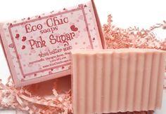 Pink Sugar Soap - Shea Butter Soap - Vegan