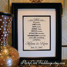 9th Wedding Anniversary Gift Ideas Wife : ideas about 9th Wedding Anniversary on Pinterest Wedding Anniversary ...