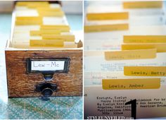 library themed wedding escort cards / Two Birds Photography / www.STYLEUNVEILED.com