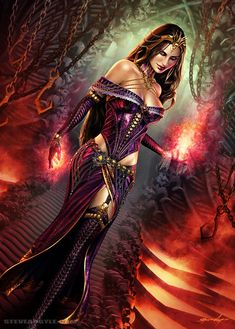 Fantasy and fine artwork. DNA fantasy Images provides a great collection of visual artwork created from some of the worlds finest and talented artists. Whenever possible the original artist is credited with a web link directly from the image. Dark Fantasy Art, Fantasy Girl, Chica Fantasy, Fantasy Art Women, Fantasy Kunst, Fantasy Images, Fantasy Artwork, Dark Art, Fantasy Characters