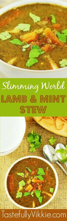 Slow Cooker, Multicooker or Pan Friendly Lamb & Mint Stew - Syn Free on Slimming World - Tastefully Vikkie Slow Cooker Slimming World, Slimming World Recipes Syn Free, Slow Cooker Recipes, Cooking Recipes, Healthy Recipes, Batch Cooking, Savoury Recipes, Protein Recipes, Free Recipes