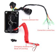 12V-0-1W-Switch-Panel-For-Yamaha-Outboard-Single-Vertical-Control-Yacht