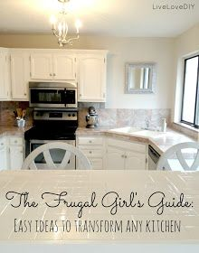 LiveLoveDIY: 10 Creative Ways To Update Your Kitchen on a Dime Using Paint!!