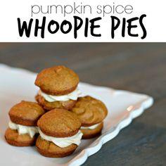 Pumpkin Spice Whoopie Pies.  Great Fall dessert!