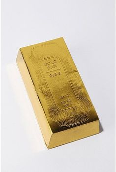This gold bar notepad is so money.