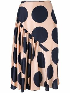Shop now Stella McCartney large polka dot print skirt for at Farfetch UK. African Fashion Skirts, African Dress, Silk Skirt, Dress Skirt, Waist Skirt, Flare Skirt, Stella Mccartney, High Skirts, Printed Skirts