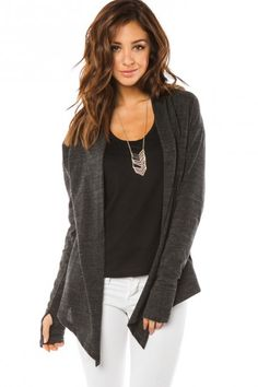 Mallory Cardigan in Charcoal