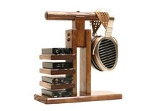 "WoodWarmth Headphone Dac/Amp Stand: Headphone Stand Headphone Holder Amplifier Stand Music Station  Heaphone Dock ""Caerus"" FREE SHIPPING!"