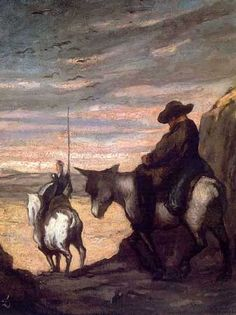 Honoré Daumier (1808-1879). Don Quijote y Sancho Panza.