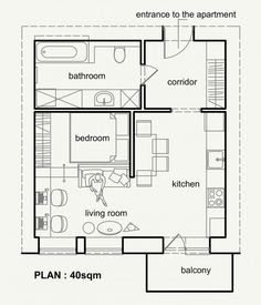 Living Small With Style: 2 Beautiful Small Apartment Plans Under 500 Square  Feet (50 Square Meters)
