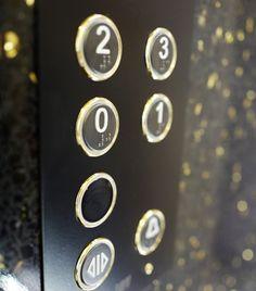 Black&gold pushbutton. DomusLift Art - Limited Edition