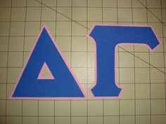 DELTA GAMMA 5 INCH (NO SEW) GREEK IRON ON LETTERS - MANY COLORS AVAILABLE