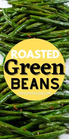 Enjoy this easy and quite frankly, the best oven Roasted Green Bean Recipe. Simplicity at its best. The fresh beans are drizzled with olive oil. Then, perfectly seasoned with fresh garlic, salt, and pepper. Everyone will love how tasty these beans are and you'll love how easy they are to make. #ovenroastedgreenbeans #roastedgreenbeans #easygreenbeans #everydayeileen Easy Appetizer Recipes, Healthy Appetizers, Appetizers For Party, Easy Healthy Recipes, Potato Side Dishes, Healthy Side Dishes, Vegetable Side Dishes, Oven Roasted Green Beans, Grilled Broccoli
