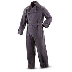 New Italian Army Surplus Military-issue Wool Coveralls, Gray
