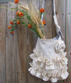 White Burap Bag Bridal Wedding Purse. $46.00, via Etsy.