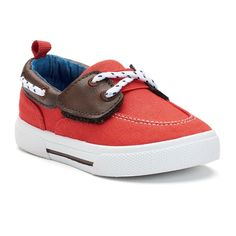 Carter's Cosmo 4 Toddler Boys' Boat Shoes, Size: 6 T, Red Other