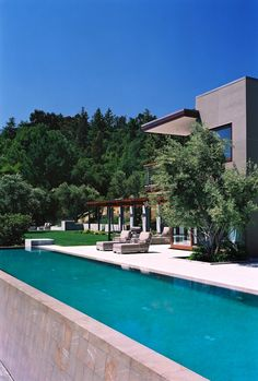 Pool and Master Suite by Modern House Architects