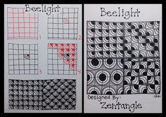 Zentangle : Tangle Pattern : Beelight by ha! designs, via Flickr
