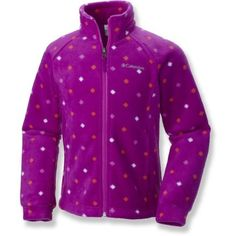 Columbia Girl's Benton Springs Print Fleece Jacket