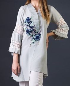 For price and details contact on WhatsApp# Pakistani Fashion Casual, Pakistani Dress Design, Pakistani Outfits, Frock Fashion, Women's Fashion Dresses, Kurta Designs Women, Blouse Designs, Kurta Neck Design, Designs For Dresses