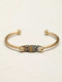 pyrite and stones cuff. free people.
