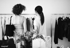 Customers checking out a shop | free image by rawpixel.com Free Photos, Free Stock Photos, Black And White Design, Model Release, Looking For Women, Fashion Boutique, Royalty Free Images, Business Women, Monochrome
