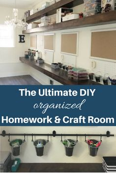 Simply Done: An Incredible DIY Homework & Craft Room