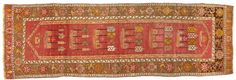 Oushak runner  West Anatolia  circa 1920  size approximately 3ft. 7in. x 11ft.