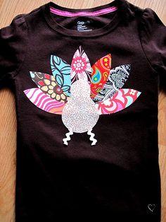 Cute & Easy DIY Turkey T-Shirt
