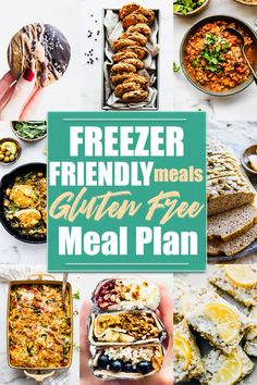 Freezer friendly meals that are part of a gluten free meal plan?! YES! These gluten free recipes that are freezer friendly will make planning your meals quick and easy. We are sharing freezer friendly breakfasts, lunches, dinners, and even freezer friendly snacks and desserts!