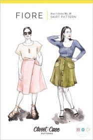 Fiore Skirt Pattern / Wrap Skirt, Button Front + A-Line Skirt Pattern – Closet Case Patterns Dress Making Patterns, Skirt Patterns Sewing, Sewing Patterns Free, Free Sewing, Print Patterns, Sewing Tips, Sewing Hacks, Skirt Sewing, Sewing Tutorials