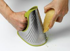 Flexible grating. Grater flattens when not in use. I need this!