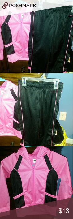 Jogging / track suit Pink and black colors together make a really cute outfit. Avera Matching Sets