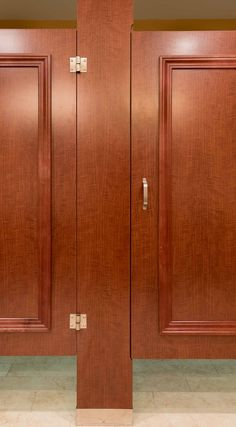 Ironwood Manufacturing laminate toilet partition with molding bathroom doors. Beautiful upscale toilet restroom stalls. | ?????? | Pinterest | Toilet ... & Ironwood Manufacturing laminate toilet partition with molding ...
