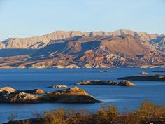 Lake Mead, just outside of the city of Las Vegas.