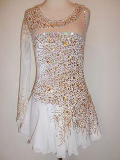 Custom Made Ice Skating Baton Twirling Dress Costume | eBay