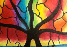 Banyan Tree oil pastels  ARTipelago: 5th grade