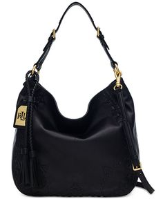 LAUREN RALPH LAUREN, Lauren Ralph Lauren Ridley Hobo $398.00 From Macy's