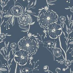 Bari J. Ackerman - Millie Fleur Knit - Line Drawings Knit in Bluing