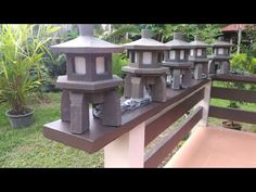 Do you like to have an asian style concrete lamp? Check out my video series on how to make this amazing concrete lantern.