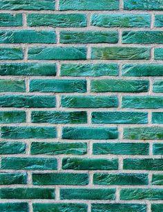 Brick wall Green - Old Master Printed Peacock Green Brick Wall Texture Photography Backdrop. Brick Wallpaper Green, Brick Pattern Wallpaper, Textured Wallpaper, Textured Walls, Brick Texture, Green Texture, Wall Texture Design, Painted Brick Walls, Brick Wall Background