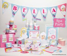 Spa Party Printable Collection by creativelittleparties.com-01