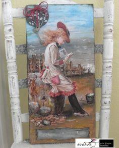Fb:evarte χειροποιητες δημιουργιες Decoupage, My Arts, Art Work, Handmade, Painting, Vintage, Artwork, Work Of Art, Painting Art