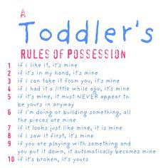 Toddler sharing ideas