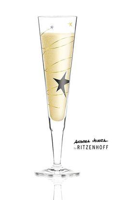 STARS | Champus glass by andrea vecera - photo © Ritzenhoff